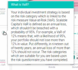 Scalable Capital VaR Definition