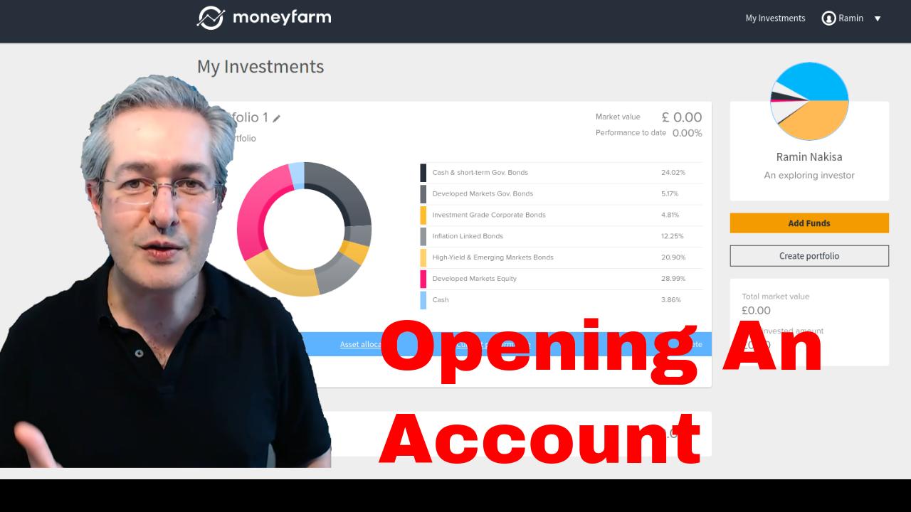 MoneyFarm Opening an Account
