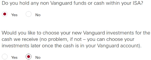 Vanguard Transfer Non Vanguard Funds