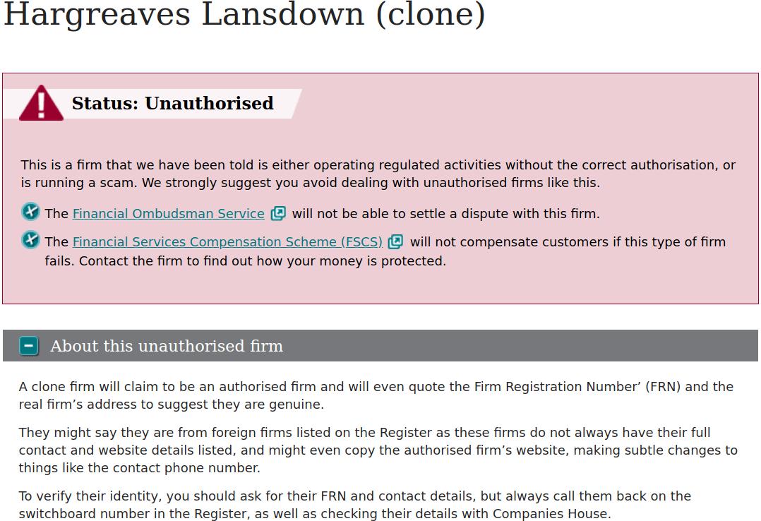 Hargreaves Lansdown Clone