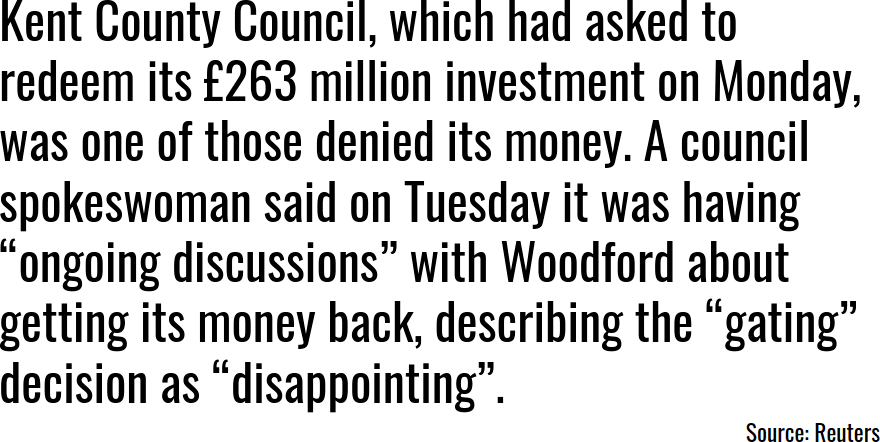 Kent County Council Woodford Statement