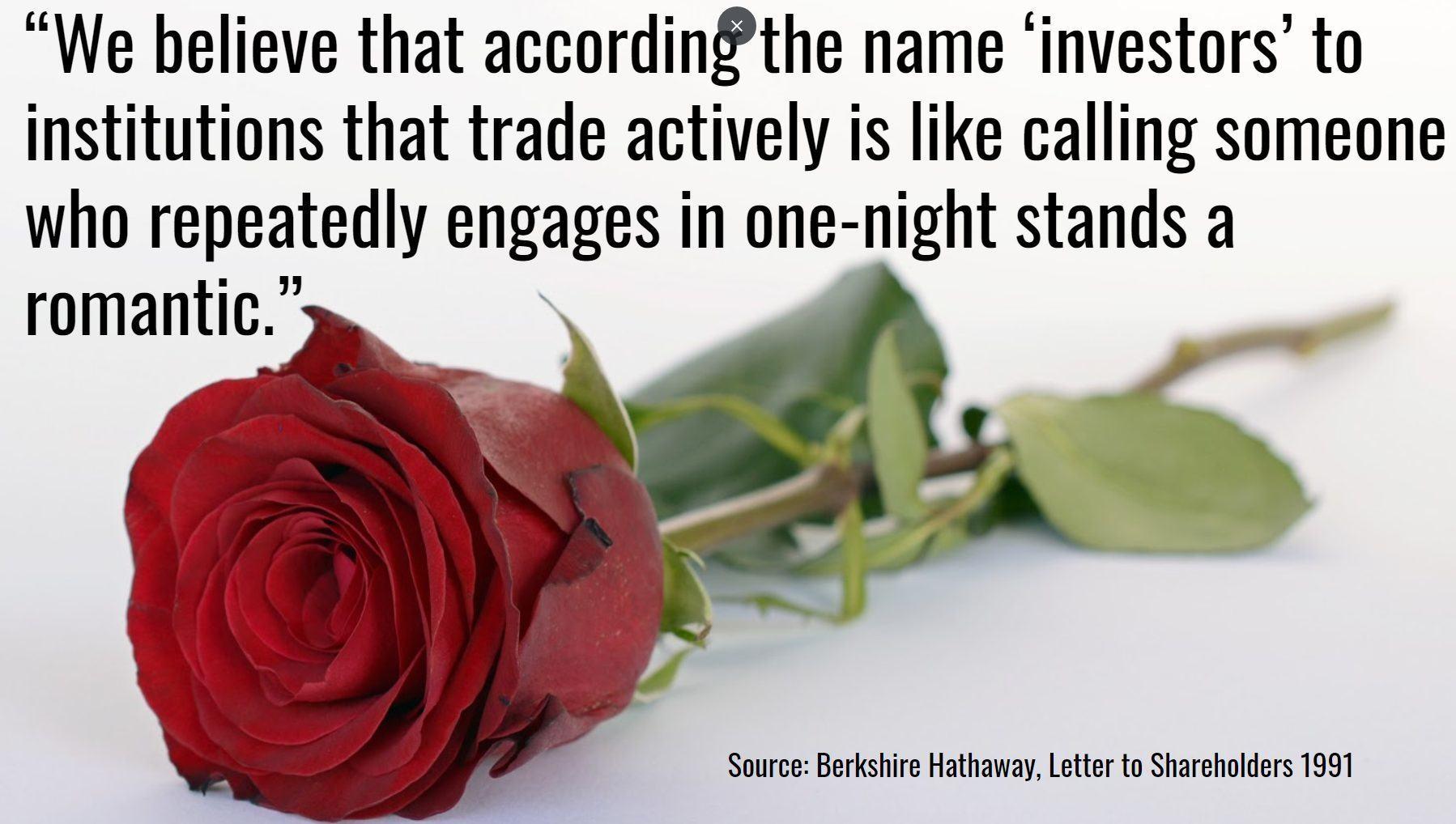 Warren Buffett Quote Avoid over trading