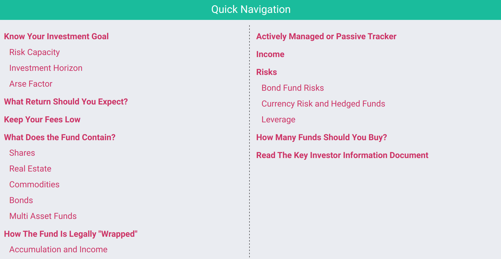 How To Choose The Best Fund Course Contents